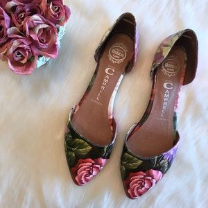 Jeffrey Campbell In Love Floral Flats